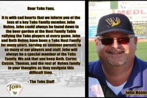 Tobs Lose Host Family Member!
