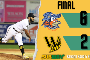 Pilots Play Spoiler, Rally to Beat Tobs 6-2