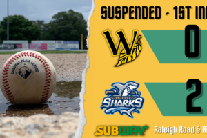 Tobs-Sharks Rainout Affects Home Schedule