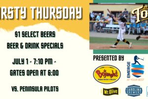 Join the Tobs for Tonight's Thirsty Thursday!