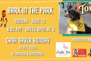 Bark in the Bark with the Tobs on Sunday