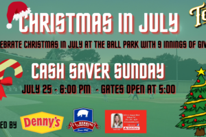 Tobs Celebrate Christmas in July on Sunday