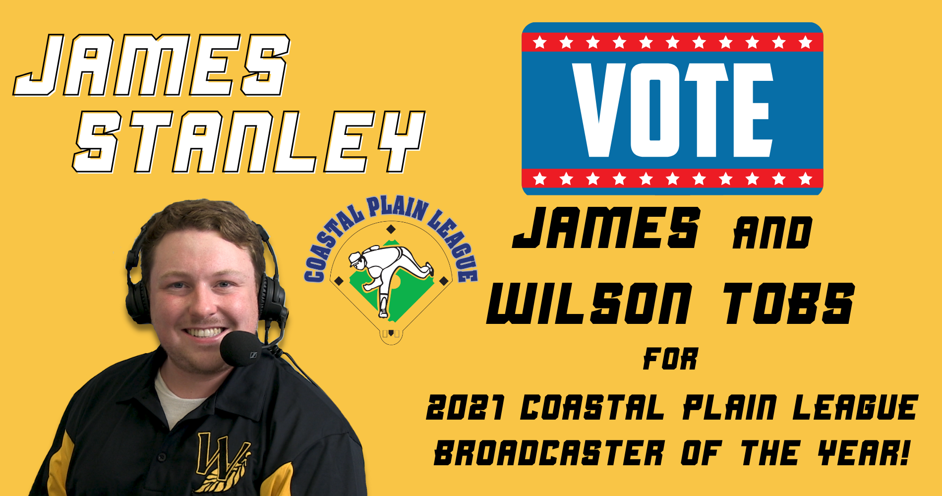 Help Tobs Win CPL Broadcaster of the Year
