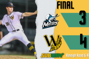 Tobs Take 2nd Half Division Lead on Tuesday Night 4-3 Win over Morehead City