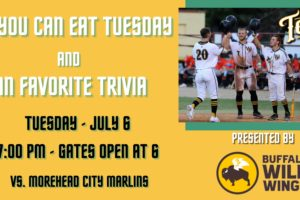 Tobs Need Your Support on All You Can Eat Tuesday Night!