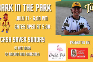 Bark in the Park with the Tobs on Sunday