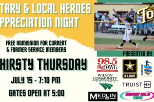 Tobs Salute Nation's Heroes on Thirsty Thursday