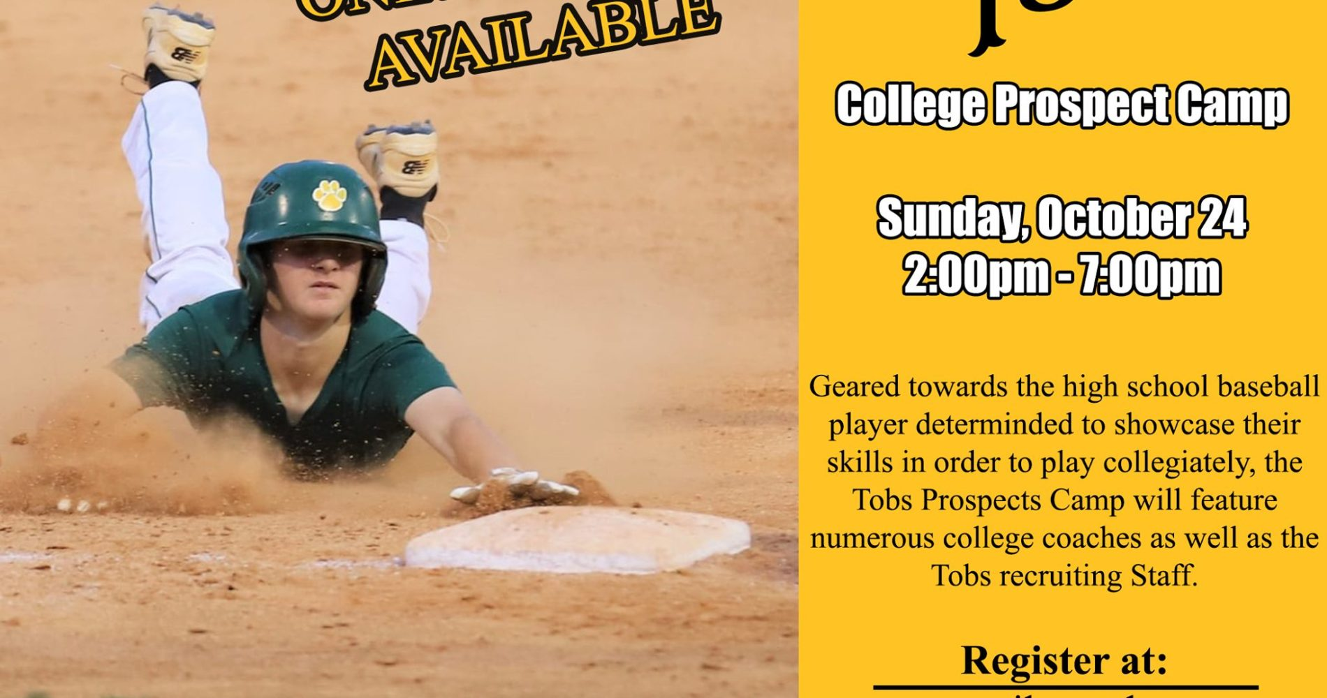 Tobs Host College Prospect Camp